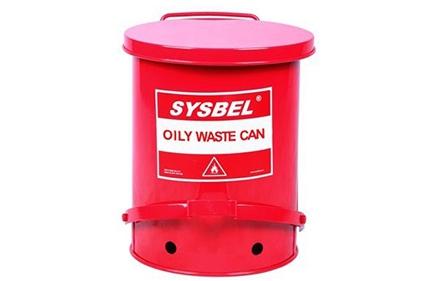 西斯贝尔油渍废弃物防火垃圾桶