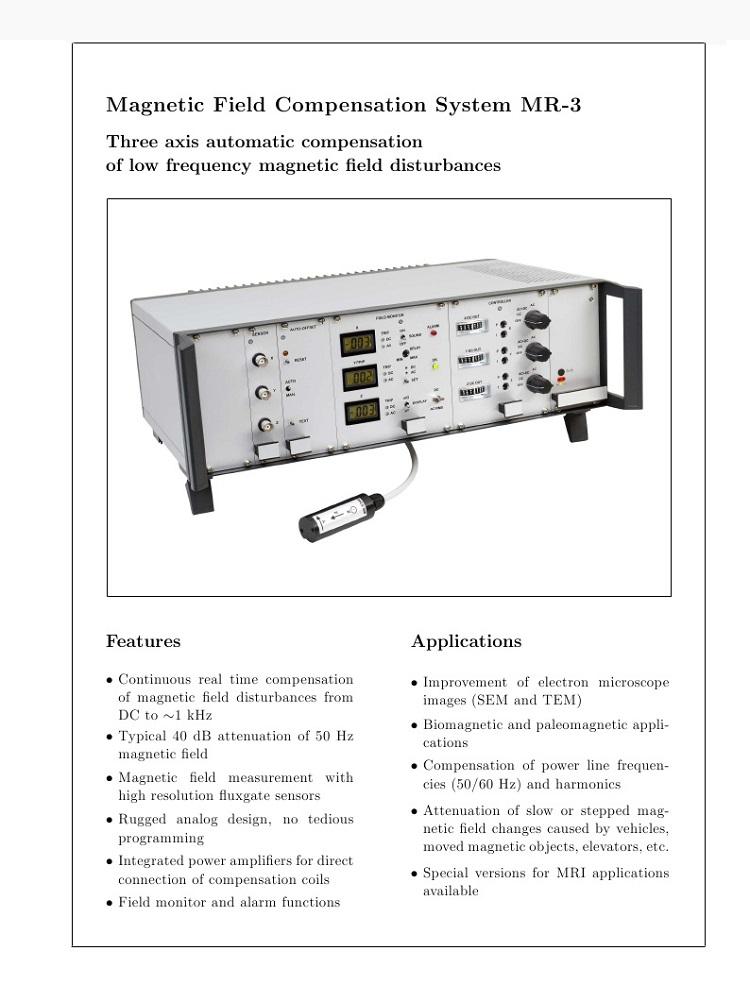 Magnetic Field Compensation System MR-3化学分析仪器/电子显微镜消磁器